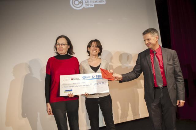 Catherine HAEHNEL et Valérie COLLEU en compagnie de Jean-François BOURGINE, Société Générale